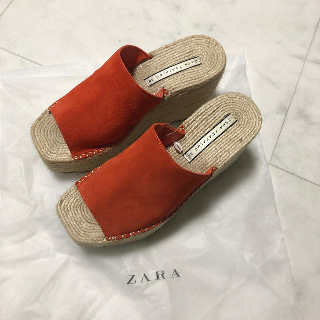ZARA(ザラ)のZARA ウェッジソールサンダル38 レディースの靴/シューズ(サンダル)の商品写真