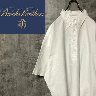Brooks Brothers - 【激レア】ブルックスブラザーズ☆ワンポイント刺繍ロゴ半袖プルオーバーシャツ