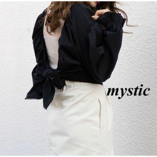 mystic - 新品 mystic ショートシャツリボンボレロ