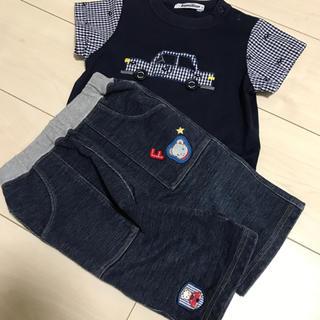 familiar - ファミリア Tシャツ パンツ セット 90 ネイビー