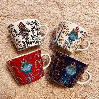 アラビア(ARABIA)の4種セット イッタラ タイカ Taika コーヒーカプチーノカップ 200ml(グラス/カップ)