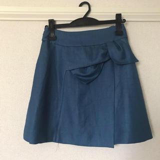 ウィルセレクション(WILLSELECTION)のWILLSELECTION ウエストリボンラップ風スカート(ミニスカート)