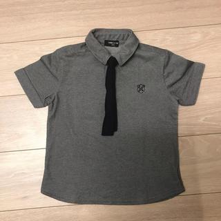 コムサイズム(COMME CA ISM)のネクタイ付きポロシャツ(120)(Tシャツ/カットソー)