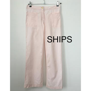 SHIPS - SHIPS シンプル パンツ  ピンク 春夏
