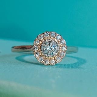 ティファニー エンチャント フラワー ダイヤ リング K18 ダイヤモンド