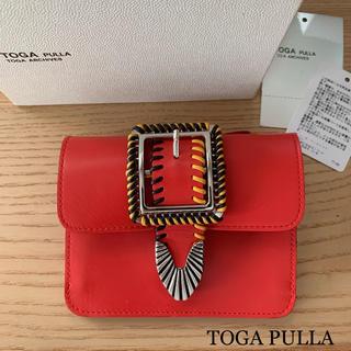 TOGA - 未使用 TOGA PULLA ステッチ レザー ウォレット 財布 新品同様