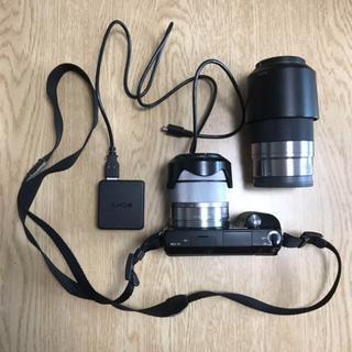 ソニー αNEX-F3 ミラーレス一眼カメラ+レンズ×2(ミラーレス一眼)