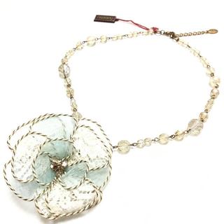 アビステ(ABISTE)のアビステ ABISTE フラワー ネックレス ブルー 上品 ネックレス 水色(ネックレス)