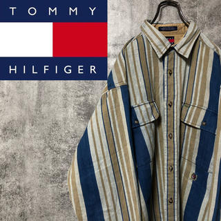 TOMMY HILFIGER - 【激レア】トミーヒルフィガー☆オールド刺繍ダブルポケットレトロストライプシャツ