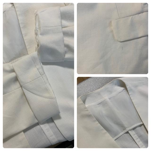 TOMORROWLAND(トゥモローランド)のトゥモローランド Ballsey ノーカラージャケット 白 ホワイト リネン  レディースのジャケット/アウター(ノーカラージャケット)の商品写真