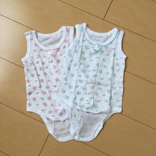 ニシマツヤ(西松屋)のベビー 70 肌着 ロンパース 女の子(肌着/下着)