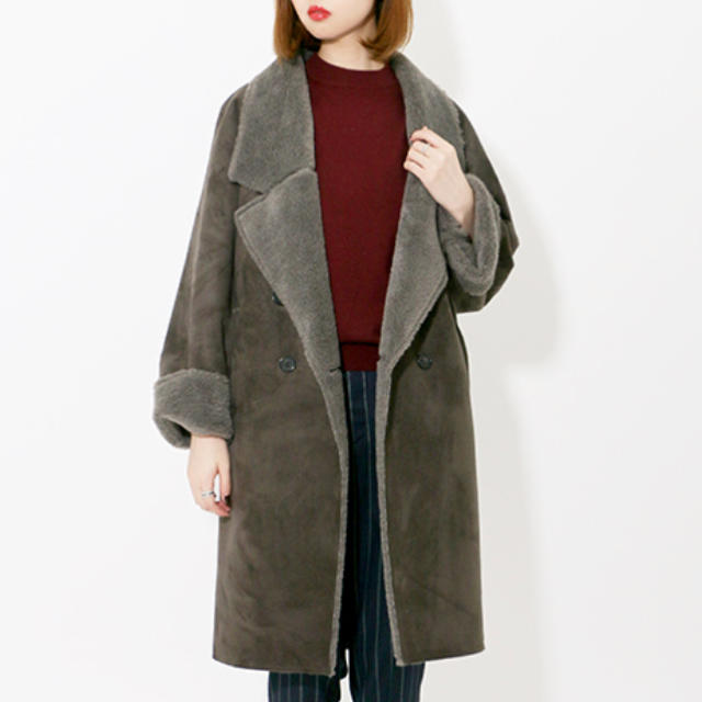 KBF(ケービーエフ)の美品 KBF ムートンコート レディースのジャケット/アウター(ムートンコート)の商品写真
