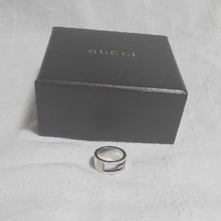 グッチ(Gucci)のグッチ リング GUCCI ブランデッド Gクリヌキ リング グッチ 指輪(リング(指輪))