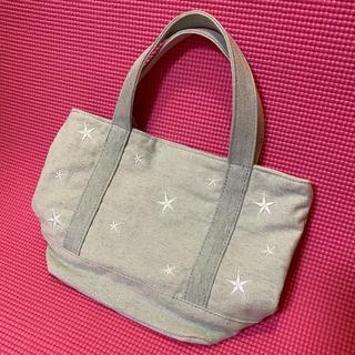 シマムラ(しまむら)のしまむら❤︎スター刺繍ミニトートバッグ❤︎薄色デニム(トートバッグ)