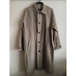RAGEBLUE - 春服 レイジブルー チェック ロングコート 男女兼用 グレー 春コート