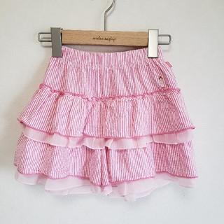 mikihouse - 【美品】130 ミキハウス リーナちゃん フリルキュロットスカート ピンク