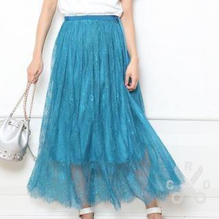 Rirandture - 新品★リランドチュール★チュールレーススカート★綺麗なターコイズの色合い