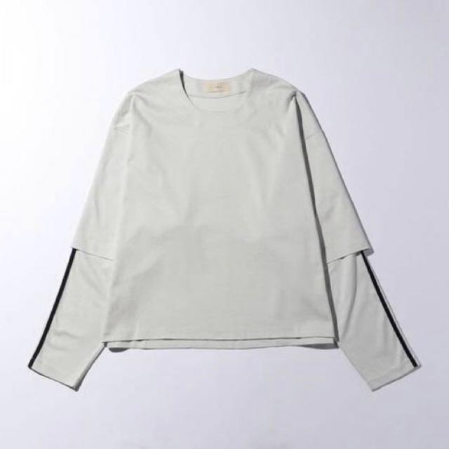 Jieda(ジエダ)のJieDa LAYERED T-SHIRT ライトグレー サイズ2 メンズのトップス(Tシャツ/カットソー(七分/長袖))の商品写真