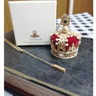 ジェーンマープル(JaneMarple)のJane Marple 王冠ネックレス 赤ゴールド(ネックレス)