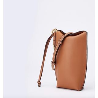 アメリヴィンテージ(Ameri VINTAGE)の本革 ポケットショルダーバッグ ブラウン レザー leather 茶色(ショルダーバッグ)