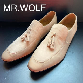 MR WOLF シューズ ビジネス 27.5 ベージュ 新品 タッセル 革靴 (ドレス/ビジネス)