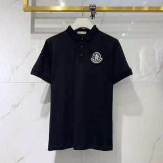モンクレール(MONCLER)の2020最新作 新品 モンクレール ポロシャツ ブラック メンズ(ポロシャツ)