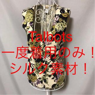 タルボット(TALBOTS)の★Talbots/タルボット★一度着用のみ★シルク素材!ノースリーブカットソーM(カットソー(半袖/袖なし))