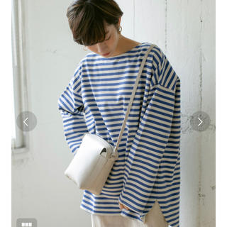 KBF - 新品未使用タグ付 KBF BIGBIGボーダーTシャツ ブルー