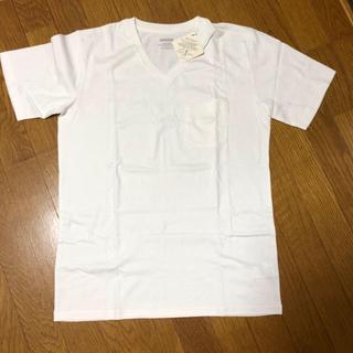 ナノユニバース(nano・universe)のnano universe Anti Soaked   VネックTシャツ 白(Tシャツ/カットソー(半袖/袖なし))