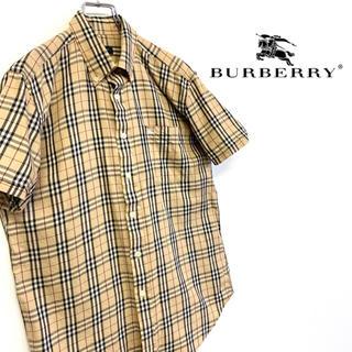 バーバリー(BURBERRY)の美品 BURBERRY LONDON 刺繍ロゴ BDシャツ ノヴァチェック(シャツ)