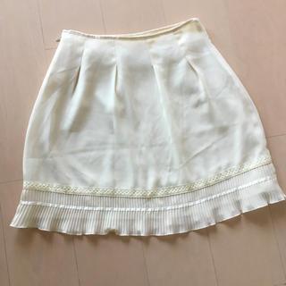 ウィルセレクション(WILLSELECTION)のチュールスカート 白 フレアスカート(ひざ丈スカート)