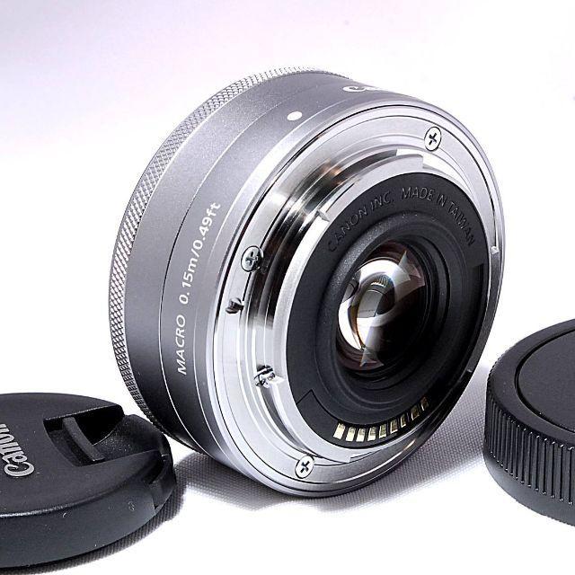 Canon(キヤノン)のよっしー様専用❤️Canon EF-M22mm F2 STMシルバー スマホ/家電/カメラのカメラ(レンズ(単焦点))の商品写真