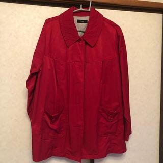 ニッセン(ニッセン)のニッセン スマイルランド 赤 コート トレンチコート 春物 ジャケット 4L(トレンチコート)