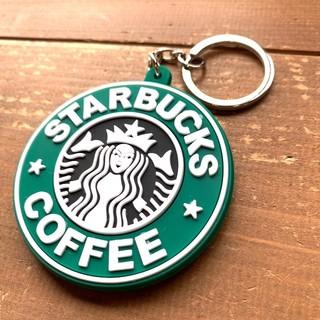 スターバックスコーヒー(Starbucks Coffee)のスターバックス ロゴ 両面ラバー キーホルダー グリーン(キーホルダー)
