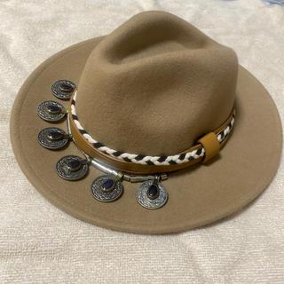 ザラ(ZARA)のZARA ハット 帽子 ツバ広(ハット)