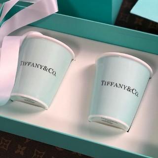 Tiffany & Co. - Tiffany ティファニー?ボーンチャイナ ペーパーカップ2個セット 紙コ