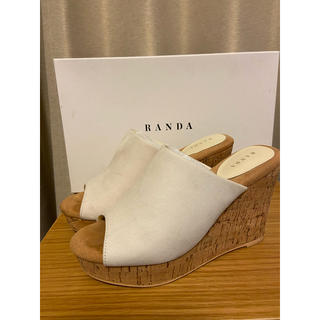 ランダ(RANDA)の☆かわいい☆RANDA サボサンダル Mサイズ(23.5cm)クリーム(サンダル)