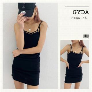 GYDA - GYDA♡バインダーキャミワンピ♡ブラック