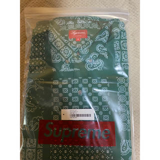 Supreme - supreme paisley grid shirt  green M