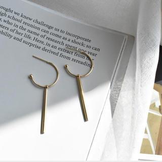 プラージュ(Plage)のN-053 stick hoop pierce gold S925(ピアス)