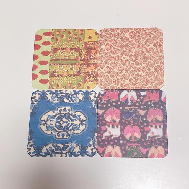 LUPICIA(ルピシア)のルピシア LUPICIA 紙製オリジナルコースター 4枚 インテリア/住まい/日用品のキッチン/食器(その他)の商品写真