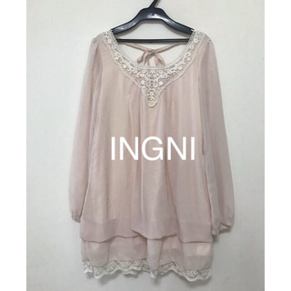 INGNI - INGNI シフォンチュニック ワンピース