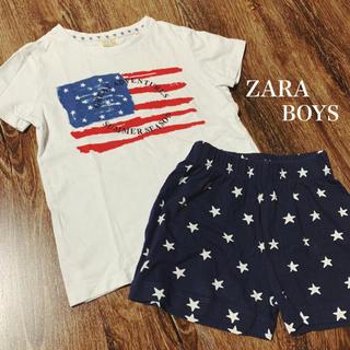 ザラキッズ(ZARA KIDS)のZARA BOYS⭐︎星条旗パジャマセット(パジャマ)