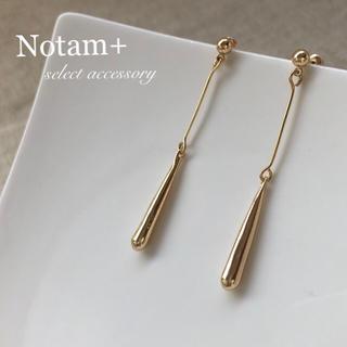 トゥデイフル(TODAYFUL)のN-057 simple gold drop pierce S925(ピアス)