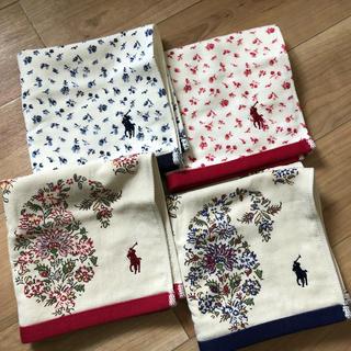 POLO RALPH LAUREN - お花柄が可愛い♡ラルフローレン ハンドタオル