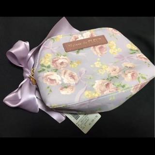 メゾンドフルール(Maison de FLEUR)のポーチ 化粧ポーチ 小物入れ ローズ プリント 薔薇 花柄 パープル 紫(ポーチ)