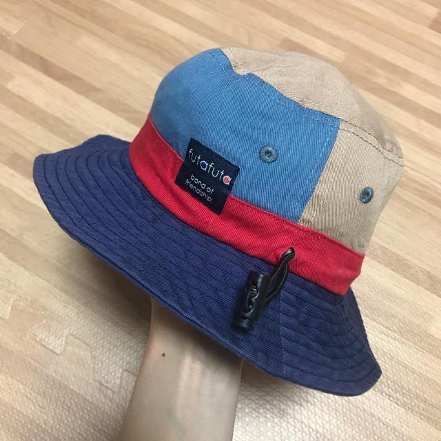 futafuta(フタフタ)のキッズ帽子 48cm 2点セット ハット ゴム付き キッズ/ベビー/マタニティのこども用ファッション小物(帽子)の商品写真