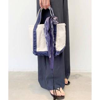 アパルトモンドゥーズィエムクラス(L'Appartement DEUXIEME CLASSE)の新品 L.L.Bean Canvas tote bag S ネイビー(トートバッグ)