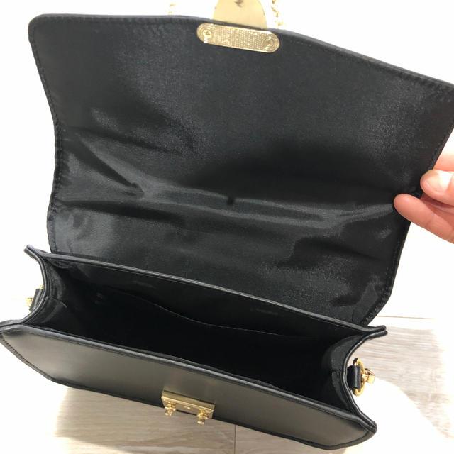 GU(ジーユー)のGU チェーン ショルダーバッグ ブラック 美品 レディースのバッグ(ショルダーバッグ)の商品写真