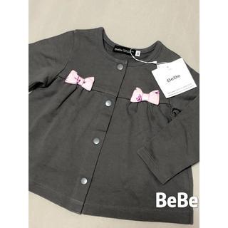 BeBe - ベベ BeBe トップス カーディガン リボン♡ 新品 80